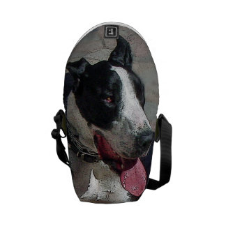 """Mostly Monochromatic """"black and white"""" great dane Messenger Bag"""