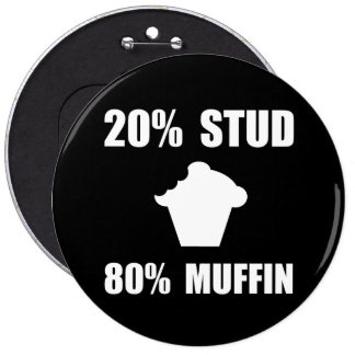 Mostly Muffin 6 Inch Round Button