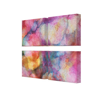 Mostly Pink Abstract Art Alcohol Ink Painting Canvas Print