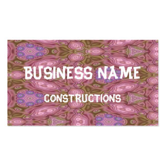 Mostly pink abstract pattern business card