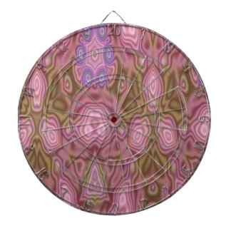 Mostly pink abstract pattern dartboard