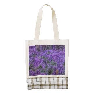 Mostly Purple pattern Zazzle HEART Tote Bag