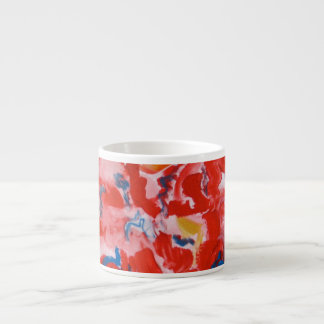 Mostly Red - Abstract Art Handpainted Espresso Cup