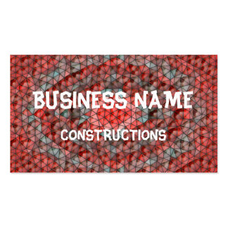 Mostly red mosaic pattern business cards