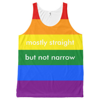 Mostly Straight But Not Narrow LGBT Ally All-Over-Print Tank Top