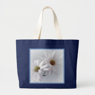 Mostly White Large Tote Bag