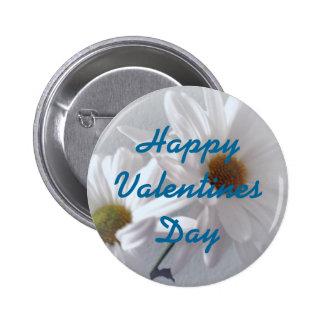 Mostly White Valentine 2 Inch Round Button