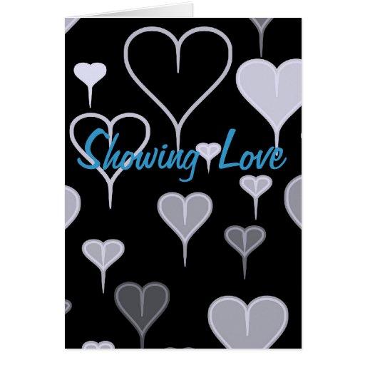 Mostrar amor tarjeta de felicitación