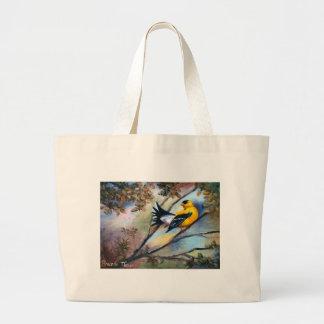 Mostrar apagado el bolso del pájaro bolsa tela grande