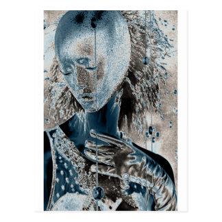Mostrar dolor con arte postales