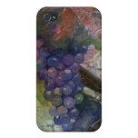 Mota 4/4s del iPhone de la uva de vino de la acuar iPhone 4/4S Funda