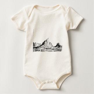 Mota acentuada de la pluma y de la tinta body para bebé