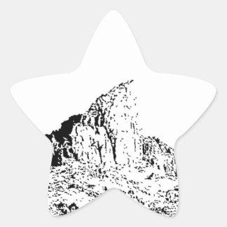 Mota acentuada de la pluma y de la tinta pegatina en forma de estrella