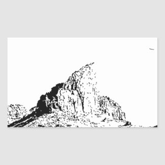 Mota acentuada de la pluma y de la tinta pegatina rectangular