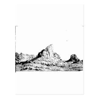 Mota acentuada de la pluma y de la tinta tarjeta postal