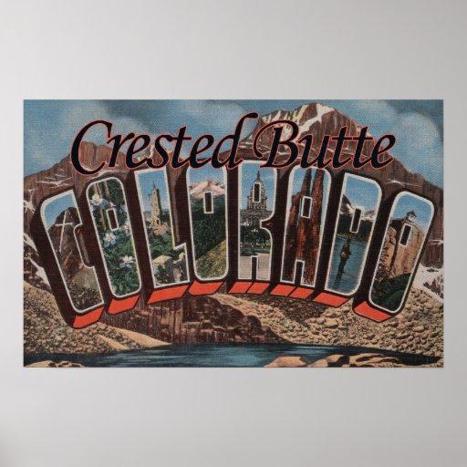 Mota con cresta, Colorado - escenas grandes de la  Póster