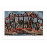 Mota con cresta, Colorado - escenas grandes de la Tarjeta Postal