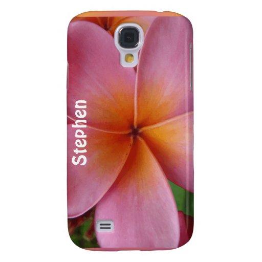 Mota conocida de encargo de la flor tropical rosad
