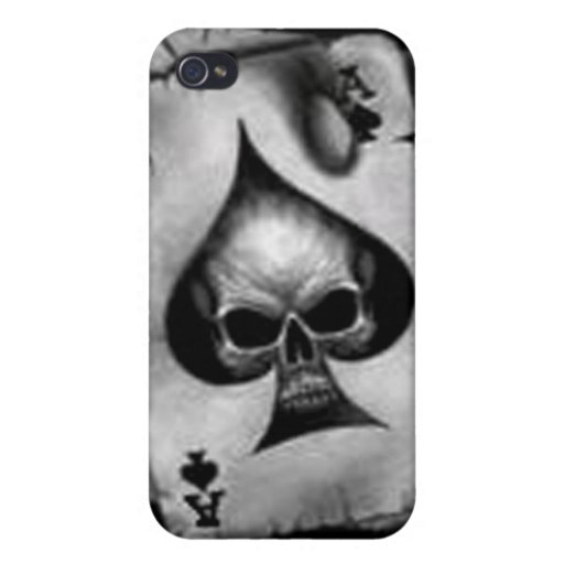 Mota de Iphone 4 - cráneo de espadas iPhone 4 Coberturas
