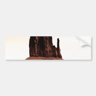 Mota de la manopla en el valle del monumento, Utah Pegatina De Parachoque