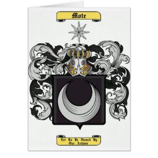 mota de polvo tarjeta de felicitación