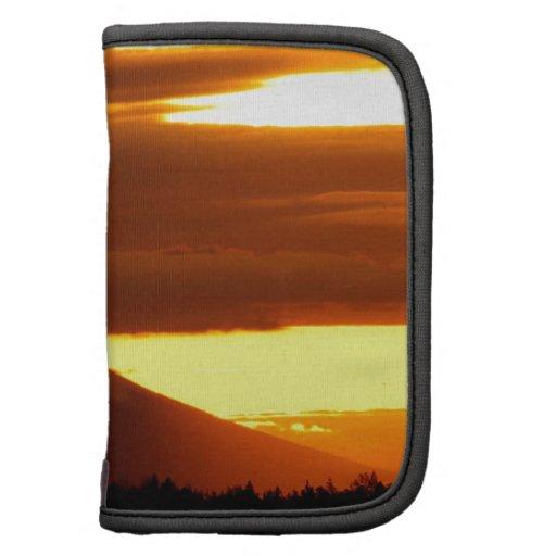 Mota negra Oregon de la puesta del sol Organizador