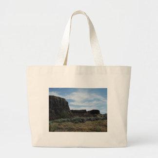 Motas de la roca del desierto bolsa lienzo
