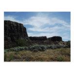 Motas de la roca del desierto tarjeta postal