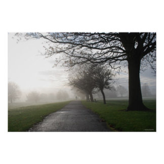 Mote Park in the Autumn Morn Poster