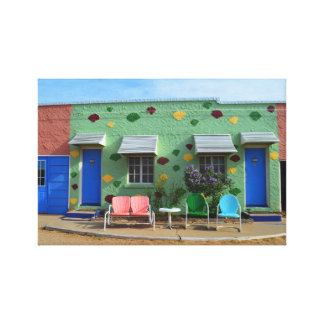 Motel azul del trago, Tucumcari, New México Lienzo Envuelto Para Galerías