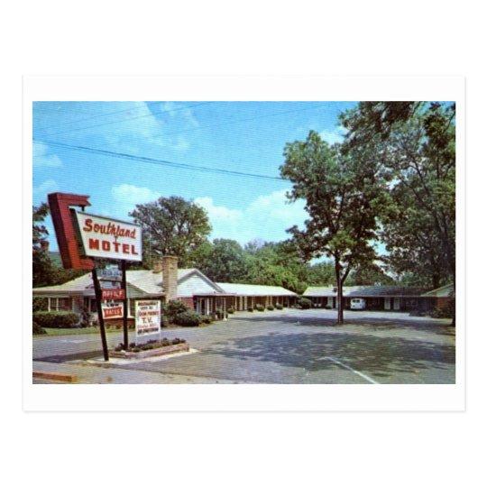 Motel, Bishopville, vintage de Carolina del Sur Postal