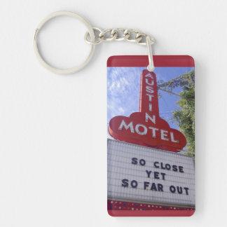 Motel de Austin Llavero Rectangular Acrílico A Una Cara