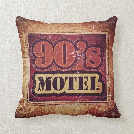 Motel de los años 90 del vintage - almohada