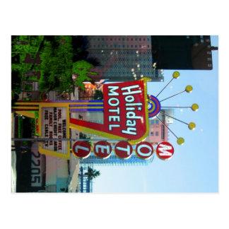 Motel del día de fiesta postales