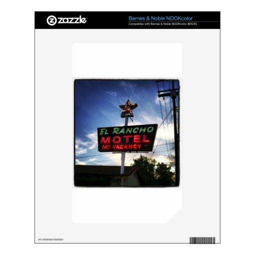 Motel del EL Rancho Calcomanías Para NOOK Color