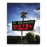 Motel del EL Rancho Membrete A Diseño