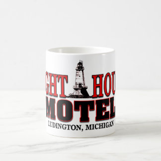 Motel del faro taza de café