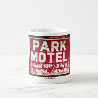 Motel del parque taza básica blanca