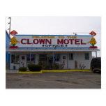 Motel del payaso tarjeta postal