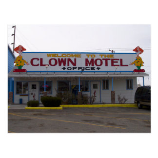 Motel del payaso tarjetas postales