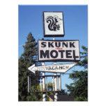 Motel del tren de la mofeta impresion fotografica