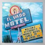 Motel histórico del EL Vado en el poster de la rut