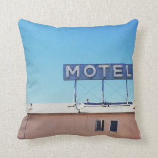 Motel off of Sepulveda Throw Pillow