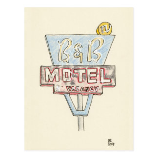 Motel Sign Postcard