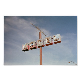 Motel sign with antenna