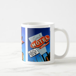 Moteles retros taza básica blanca