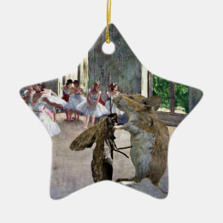 Moth and Mouse Cotillion Ceramic Ornament