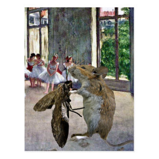 Moth and Mouse Cotillion Postcard