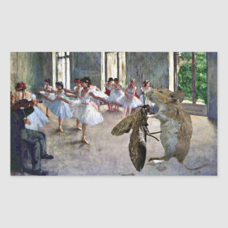 Moth and Mouse Cotillion Rectangular Sticker