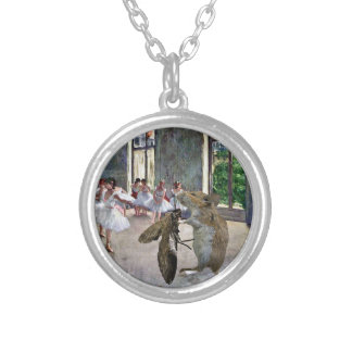 Moth and Mouse Cotillion Round Pendant Necklace